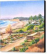 Cactus Garden At Powerhouse Beach Canvas Print
