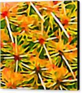 Cactus Pattern 2 Yellow Canvas Print