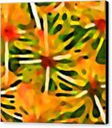 Cactus Pattern 3 Yellow Canvas Print by Amy Vangsgard