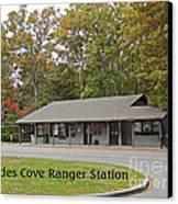 Cades Cove Ranger Station Canvas Print
