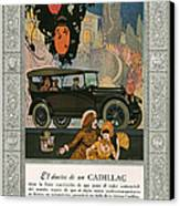 Cadillac 1920 1920s Usa Cc Cars Canvas Print by The Advertising Archives