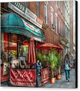 Cafe - Hoboken Nj - Vito's Italian Deli  Canvas Print by Mike Savad