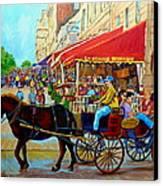 Cafe La Grande Terrasse Canvas Print