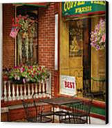 Cafe - The Best Ice Cream In Lancaster Canvas Print by Mike Savad