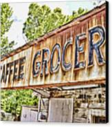 Caffee Grocery Canvas Print