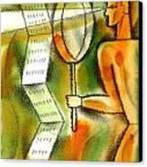 Calculation Canvas Print by Leon Zernitsky