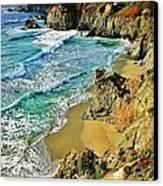 Californa Shore Canvas Print by Benjamin Yeager
