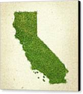 California Grass Map Canvas Print by Aged Pixel