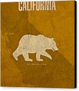 California State Facts Minimalist Movie Poster Art  Canvas Print