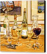California Wine And Watercolors Canvas Print by Mary Helmreich