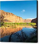Calm Colorado River Canvas Print by Michael J Bauer