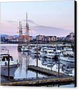 Calm In The Harbour Canvas Print by Jenny Hudson