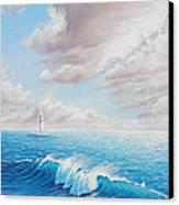 Calming Ocean Canvas Print by Joe Mandrick