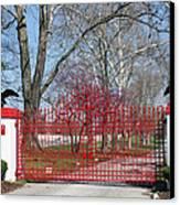 Calumet Farm Entrance Canvas Print by Roger Potts
