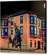 Cambridge City At Night Canvas Print