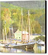 Camden Harbor Maine Canvas Print by Carol Leigh