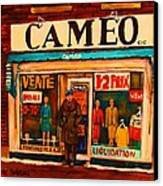 Cameo Dress Shop Canvas Print