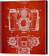 Camera Patent Drawing From 1962 Canvas Print
