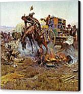 Camp Cooks Trouble Canvas Print by Charles Russell