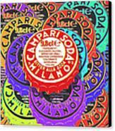 Campari Soda Caps Canvas Print by Tony Rubino