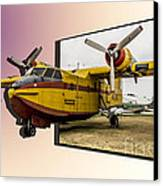 Canadair 3d Canvas Print