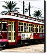 Canal Street Car Canvas Print by Bill Cannon