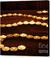 Candle Path Canvas Print by Olivier Le Queinec