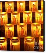 Candlelights - Bougies Notre Dame De Paris - Paris - France Canvas Print by Francoise Leandre