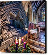 Candles At Christmas Canvas Print by Adrian Evans