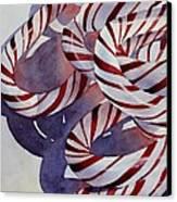 Candy Cane Christmas Canvas Print