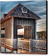 Canebrake Boat House Canvas Print by Brenda Bryant