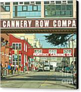 Cannery Row Monterey California Canvas Print by Artist and Photographer Laura Wrede