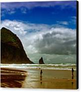 Cannon Beach At Dusk II Canvas Print