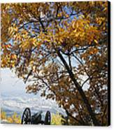 Cannon On Top Of Lookout Mountain Canvas Print by Bruce Roberts