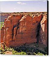 Canyon De Chelly - View From Sliding House Overlook Canvas Print