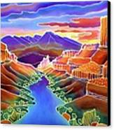Canyon Sunrise Canvas Print by Harriet Peck Taylor