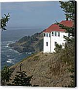 Cape Foulweather Lookout Canvas Print by Betty Depee