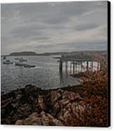 Cape Porpoise Maine - Fog Rolls In Canvas Print by Bob Orsillo