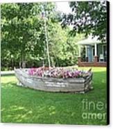 Cape Vincent Flowerboat Canvas Print by Kevin Croitz