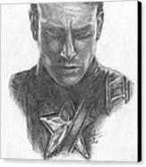 Captain America Canvas Print by Christine Jepsen