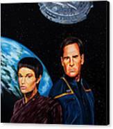 Captain Archer And T Pol Canvas Print