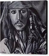 Captain Jack Sparrow Canvas Print by Lori Keilwitz