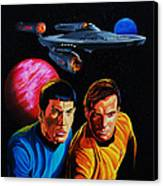 Captain Kirk And Mr. Spock Canvas Print by Robert Steen