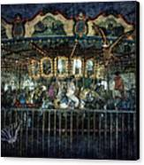 Captive On The Carousel Of Time Canvas Print