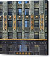 Carbide And Carbon Building Canvas Print by Adam Romanowicz