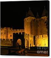 Carcassonne At Night Canvas Print by France  Art