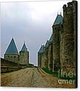 Carcassonne Walls Canvas Print by France  Art