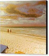 Caribbean Beach Canvas Print by Odon Czintos
