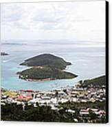 Caribbean Cruise - St Thomas - 12124 Canvas Print by DC Photographer