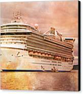 Caribbean Princess In A Different Light Canvas Print by Betsy Knapp